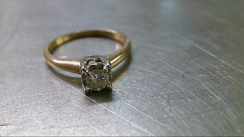 Lady's Diamond Engagement Ring .25 CT. 14K Yellow Gold 2.21g