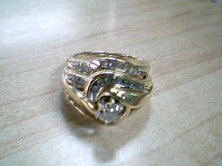 Lady's Diamond Engagement Ring 28 Diamonds .32 Carat T.W. 10K Yellow Gold 5g