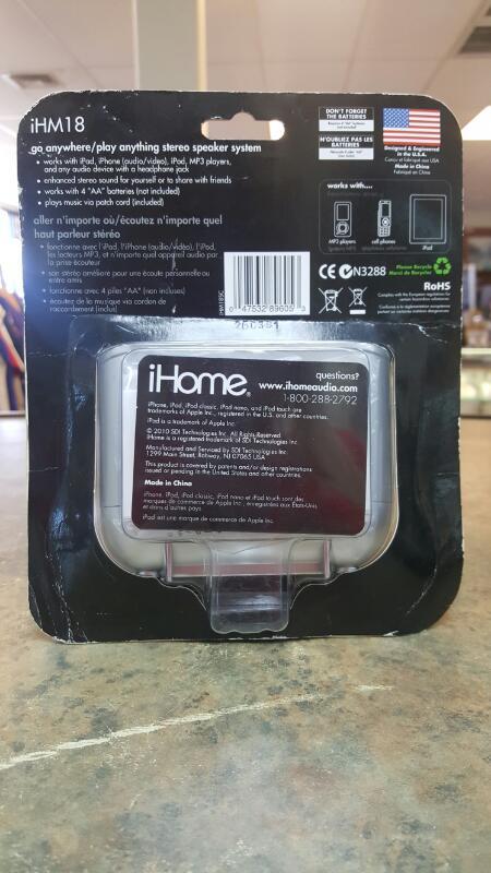 IHOME IPOD/MP3 Accessory IHM18