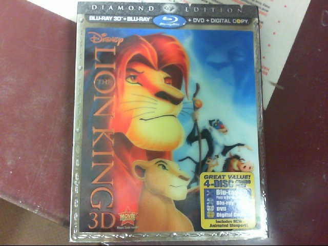 3D DIAMOND EDTITION 4-DISC  BLU-RAY MOVIE Blu-Ray THE LION KING DIAMOND EDITION