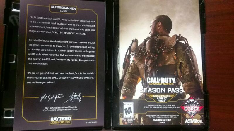 ACTIVISION CALL OF DUTY DAY ZERO EDITION PC GAME