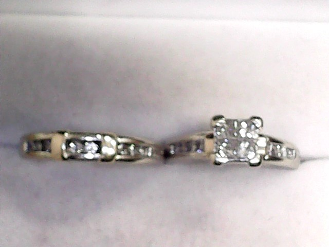 Lady's Diamond Wedding Set 20 Diamonds 1.28 Carat T.W. 14K 2 Tone Gold 4.62dwt