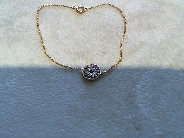 Gold-Diamond Bracelet 8 Diamonds .08 Carat T.W. 18K Rose Gold 1g