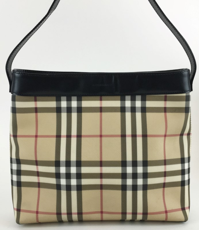 BURBERRY NOVA CHECK SATCHEL HANDBAG