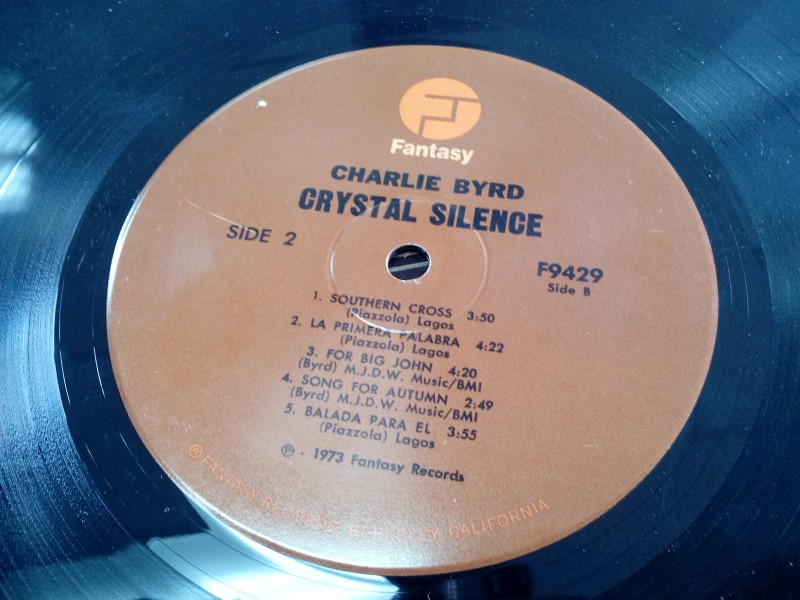 FANTASY RECORDS CHARLIE BYRD CRYSTAL SILENCE VINYL