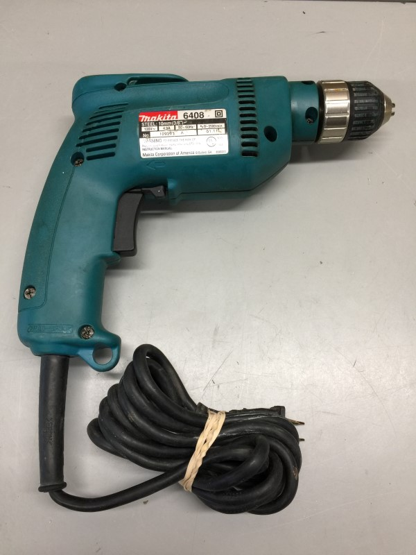 MAKITA 6408 4.9 Amp 3/8 in. Drill - Keyless Chuck