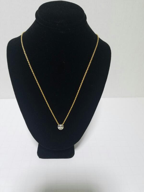 CHAIN_WITH_CHARM NECKLACE 14KT  CHARM ON ROPE CHAIN 4.5_PWT/YELLOW