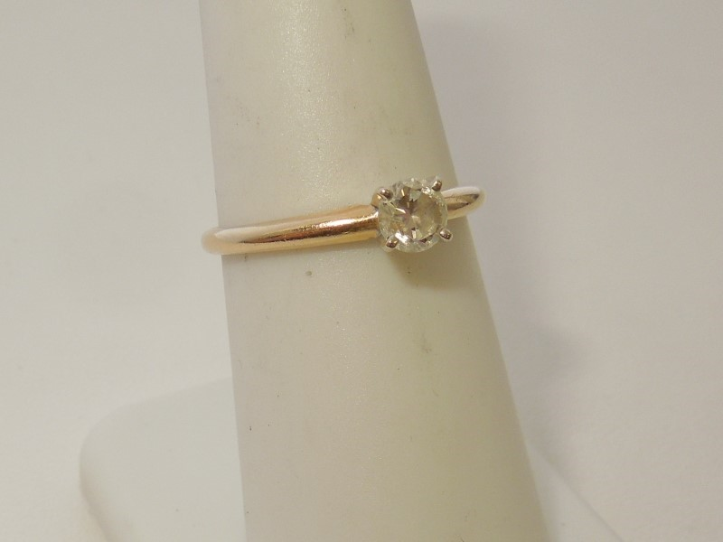 Lady's Diamond Engagement Ring .20 CT. 14K Yellow Gold 1.9g