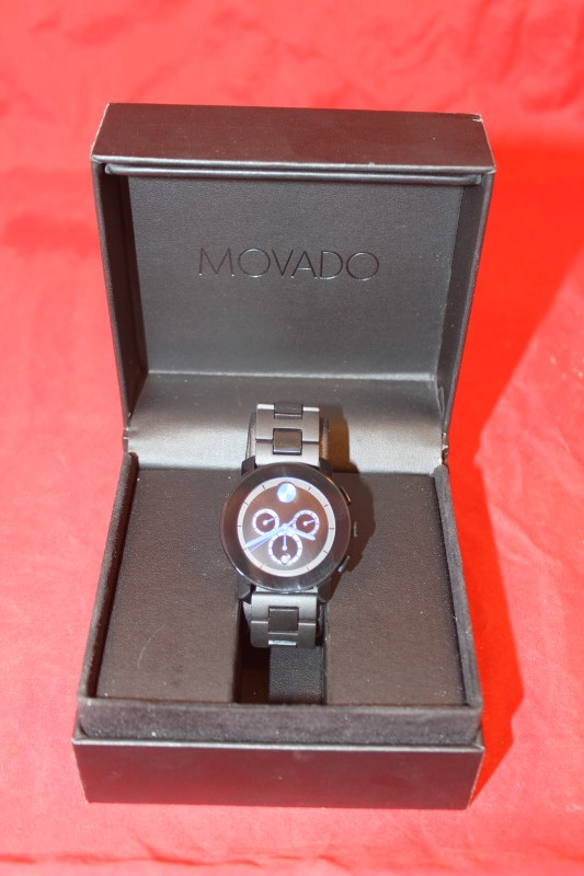 "Mens Movado Blue Watch - MB.01.1.29.6016 **FITS A 7"" WRIST**"
