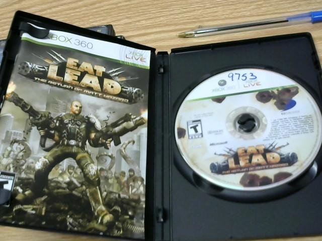 MICROSOFT Microsoft XBOX 360 Game EAT LEAD THE RETURN OF MATT HAZARD