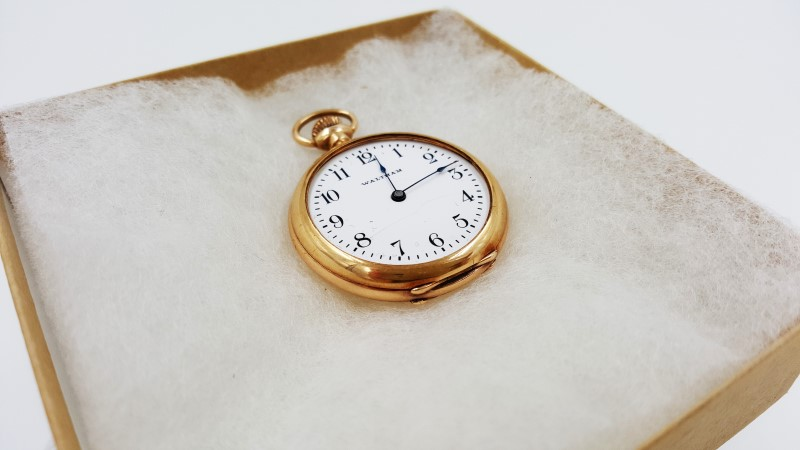 American Waltham 14K Yellow Gold Wind Up Vintage Pocket Watch