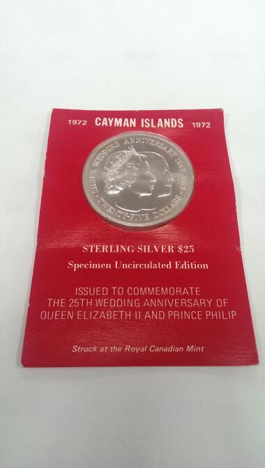 ROYAL CANADIAN MINT 1972 $25 25TH WEDDING OF QUEEN ELIZABETH II