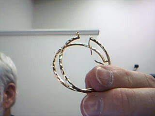 Gold Earrings 10K Yellow Gold 3.5g