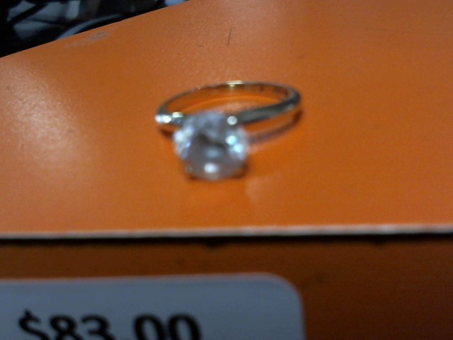 Synthetic Cubic Zirconia Lady's Stone Ring 10K Yellow Gold 1.99g