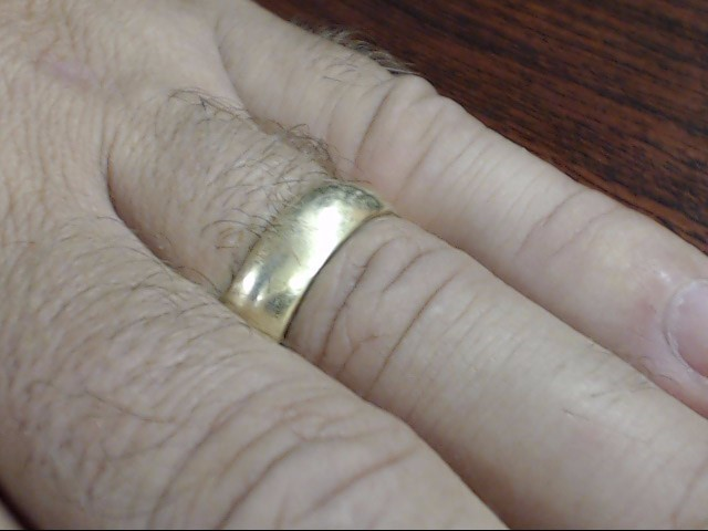 VINTAGE CLASSIC PLAIN WED RING BAND SOLID REAL 10K GOLD 6MM SIZE 11