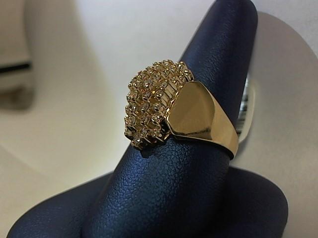Lady's Diamond Fashion Ring 44 Diamonds .88 Carat T.W. 10K Yellow Gold 6.3g