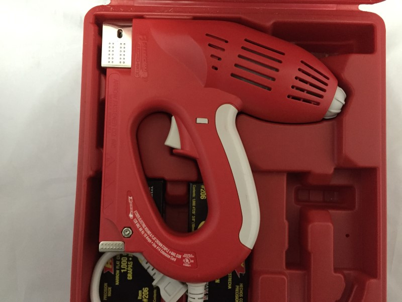 ARROW FASTENER STAPLER ELECTRO-MATIC STAPLE NAIL GUN KIT