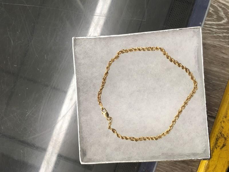 Gold Rope Bracelet 10K Yellow Gold 0.75dwt