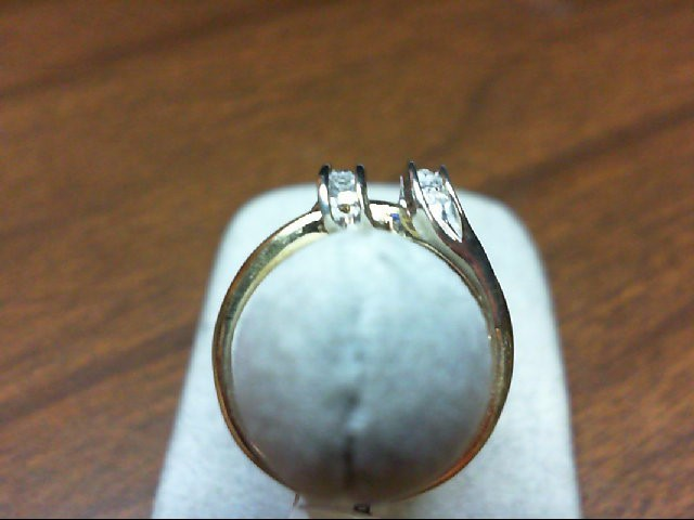 Lady's Diamond Fashion Ring 10 Diamonds .10 Carat T.W. 14K 2 Tone Gold 2g