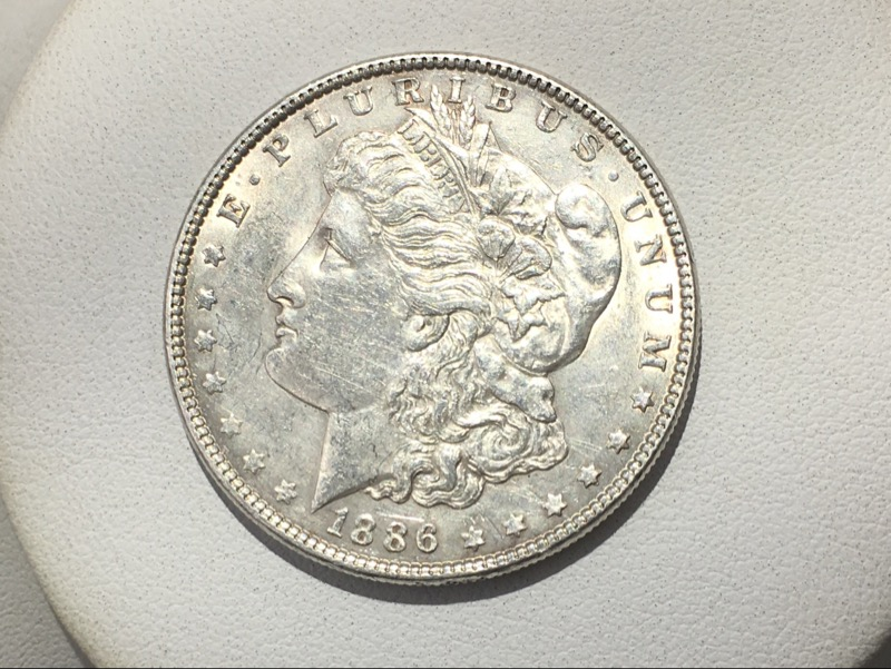 1886 Morgan Silver Dollar - U.S. 90% Silver $1 Coin -