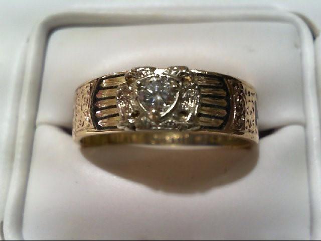 Gent's Diamond Fashion Ring .15 CT. 14K Yellow Gold 7.3g