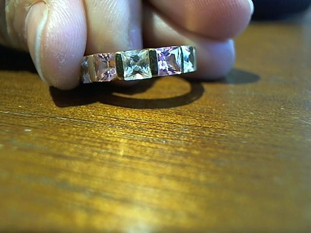 Lady's Stone CZ Ring 14KYG  4g