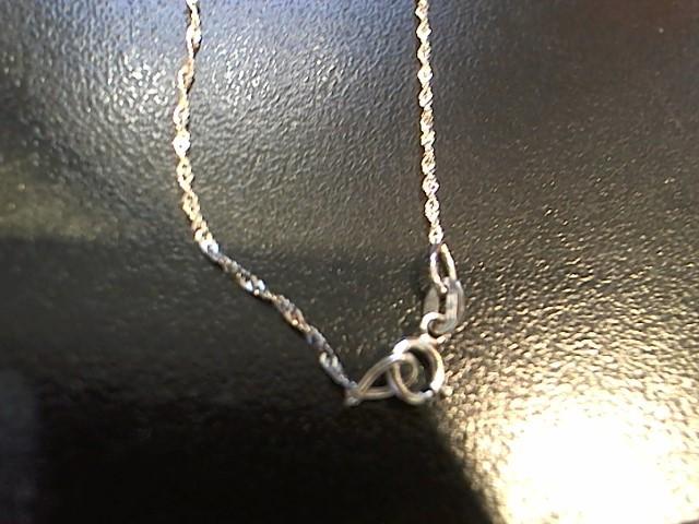 Gold Chain 14K White Gold 0.8g