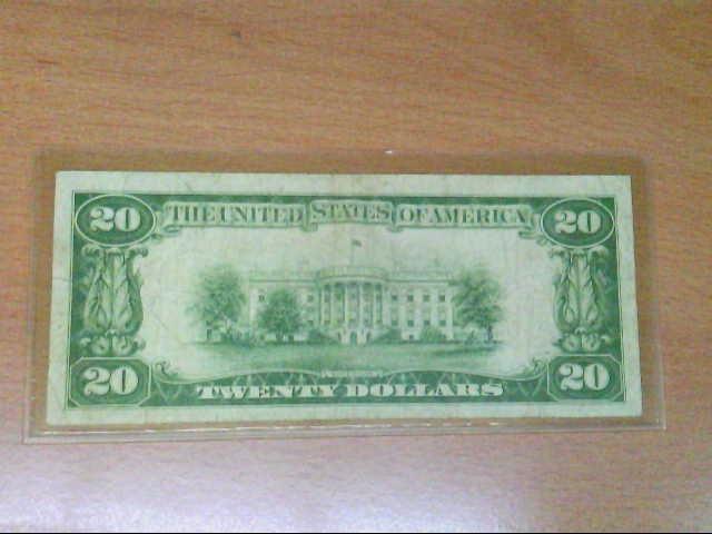 U S $20 GOLD CERTIFICATE