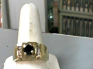 Gent's BLK DIA Ring 1.09 CT. 14K Yellow Gold 7.6dwt Size:10