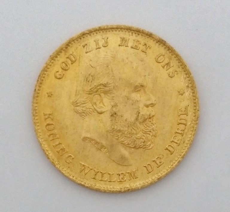Netherlands - 10 Gulden Gold Coin - 1875 - .900 Pure gold