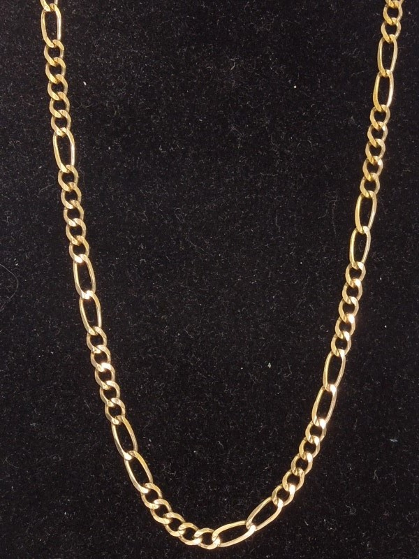 "16"" Gold Figaro Chain 10K Yellow Gold 5.4g"