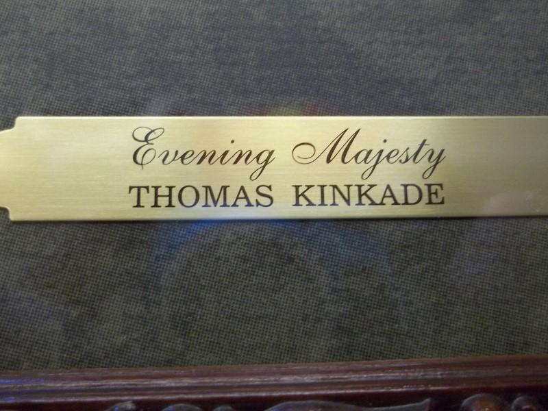 "T. KINKADE ""EVENING MAJESTY"""