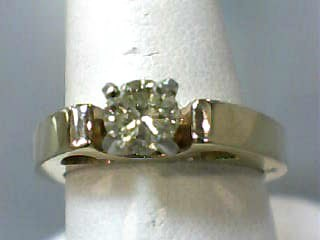 Lady's Diamond Solitaire Ring .52 CT. 14K Yellow Gold 4.8dwt Size:7.3