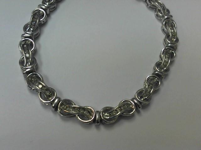 Silver-Diamond Bracelet 60 Diamonds .60 Carat T.W. 925 Silver 12.8g