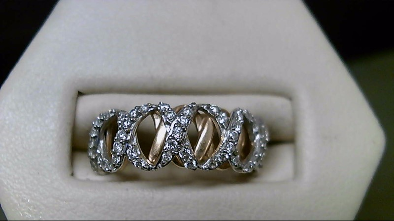 Lady's Diamond Fashion Ring 44 Diamonds .44 Carat T.W. 14K Yellow Gold 3.3g