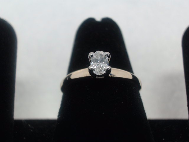 Lady's Diamond Solitaire Ring .25 CT. 14K Yellow Gold 2.4g