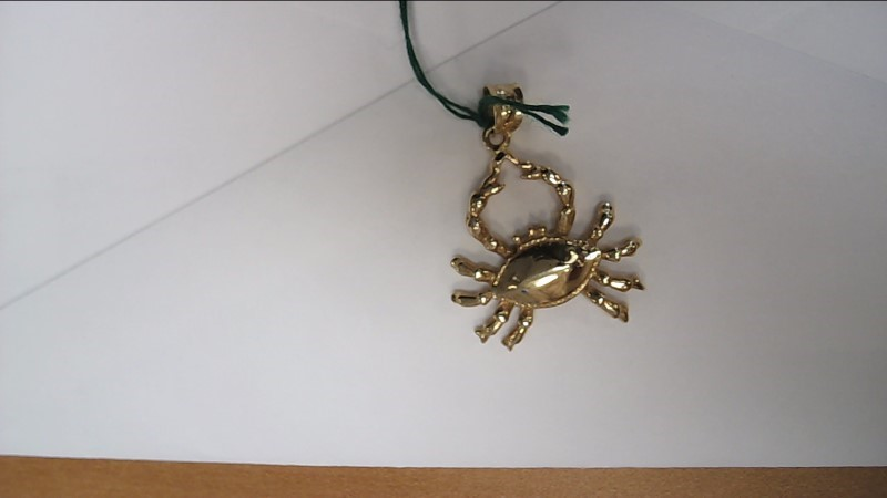 Gold Crab Pendant 14K Yellow Gold 6.1g