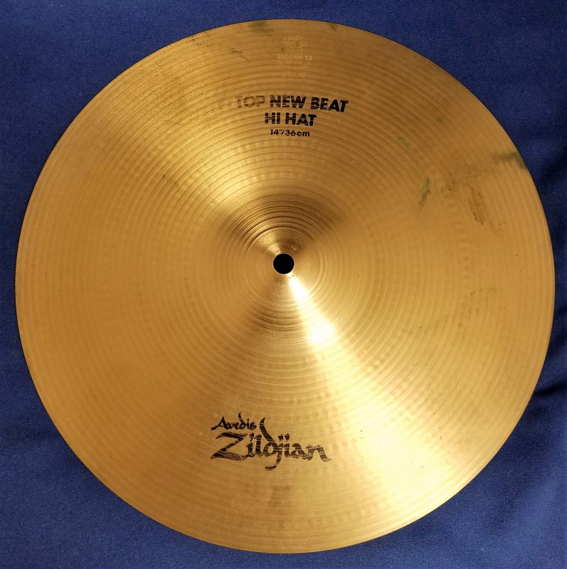 "ZILDJIAN CYMBAL 14"" NEW BEAT HI HAT TOP"