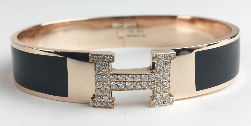 Gold-Diamond Bracelet 52 Diamonds .52 Carat T.W. 18K Rose Gold 40.69g