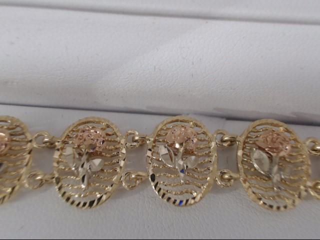 Gold Bracelet 14K Yellow Gold 16.3g