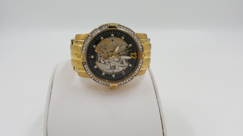 Armitron Men's Automatic Skeleton Movement Gold Tone Watch