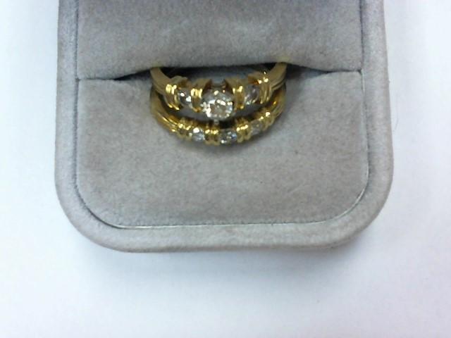 Lady's Diamond Wedding Set 6 Diamonds .55 Carat T.W. 14K Yellow Gold 5.3g