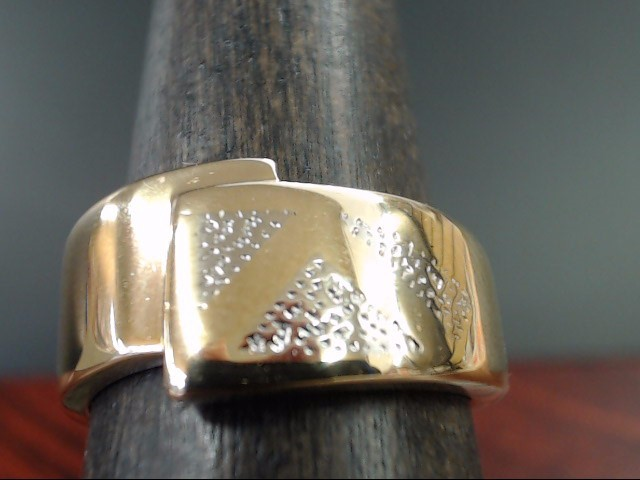 ESTATE WIDE DESIGN WRAP RING BAND SOLID REAL 14K GOLD SIZE 7.25