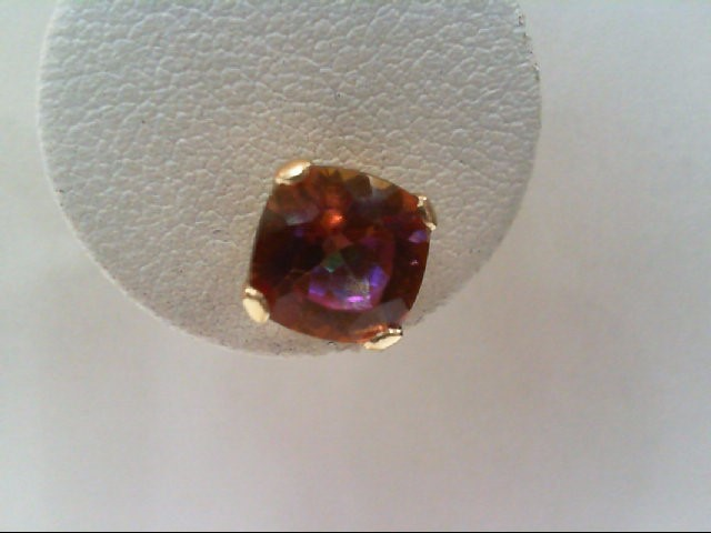 Blue Topaz Gold-Stone Earrings 10K Yellow Gold 1.3g