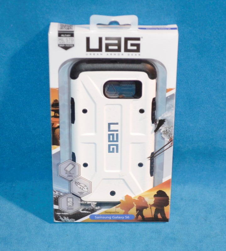 UAG Cell Phone Accessory UAG-GLXS6-WHT-W/SCRN-VP