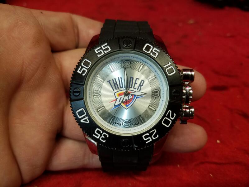 Oklahoma City Thunder Game Time NBA Beast Black Men's Sport Watch