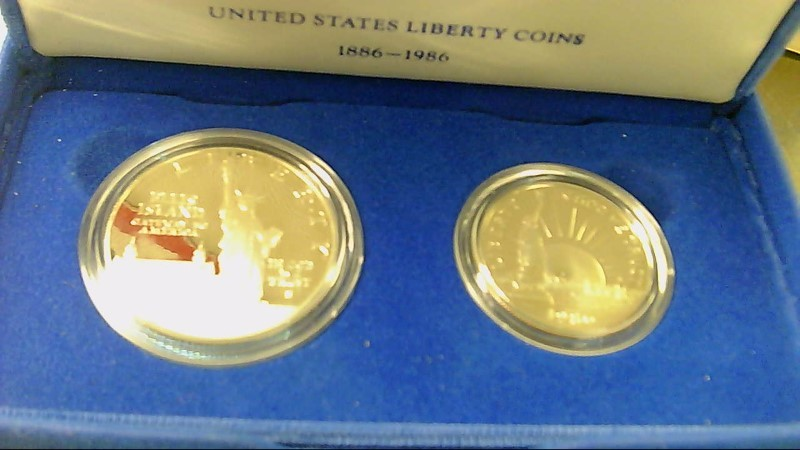 UNITED STATES Mint Set 1886-1986 LIBERTY COINS 2PC SET