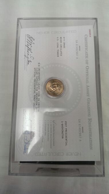 2007 P WASHINGTON PRESIDENTIAL DOLLARS BALLISTIC ROLL 50 COINS