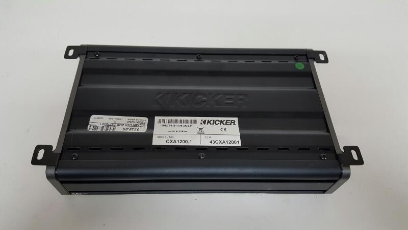 Kicker 43CXA12001 Car Audio Mono Amp 1200-Watt Class D CXA1200.1 Sub Amplifier