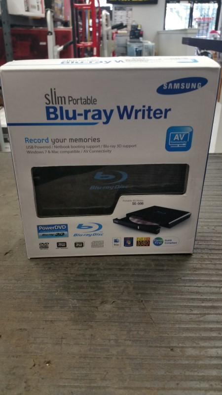 SAMSUNG SE-506 SLIM PORTABLE BLU-RAY WRITER